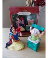 1997 Disney Hallmark Snow White Set of 2 Anniversary Ornaments  - $25.00