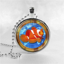 CLOWNFISH Necklace, Clown Fish, Marine Fish, Sealife, Glass Photo Art Necklace,  - $12.95
