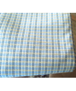 """4+Yards x 57"""" MidWeight Textured Fabric - Blues Yellow White Great Quali... - $24.99"""