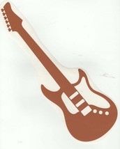 electric guitar brown decal ideal cars, trucks, home etc easy to apply