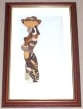 SIGNED MIFUMU 1983 ZAIRE CONGO MIXED MEDIA ORIGINAL ART - $386.99