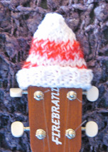 Headstock Hat For Your Concert/Tenor Sized Ukulele/Red/White Stripe/Chri... - $5.99
