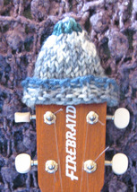 Headstock Hat For Your Concert/Tenor Sized Ukulele/Greys/Cream/Green/Blues - $5.99
