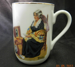 1982 Norman Rockwell Memories Woman Chair Chest Trunk Cup Mug Vintage EH... - $24.22