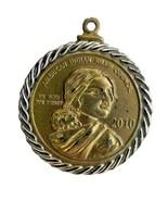 American Indian Relief Council 2010 Sacajawea Coin Token Necklace Pendant - $24.22