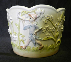 Andrea by Sadek Floral Flower Garden Fairy Raised Image Pastel Planter Pot - $88.17