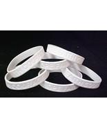 Blindness Awareness Support Bracelet White 6 pc Lot New - $9.57