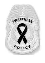 Black Awareness Ribbon Pin Police Badge Officer Sheriff Cop Cancer Causes New N image 7