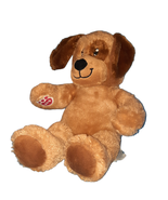 "2016 Build A Bear Lil' Pup Brown Puppy Dog Eye Patch Plush Stuffed Toy 15"" - $13.86"