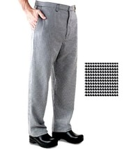 Chef Pants Black White Houndstooth 42/44 unhemmed Inseam  New - $23.97