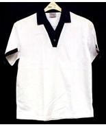 Chef Server Uniform Shirt King Menus Apparel White Black Collared Busboy... - $14.67