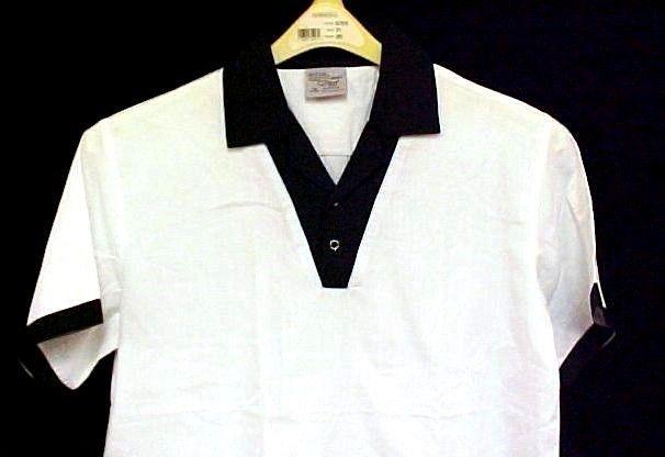 Chef Server Uniform Shirt King Menus Apparel White Black Collared Busboy L New