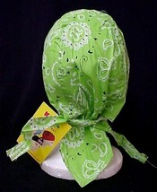 Chemo Head Cover Hat Lime Green Paisley Durag Cap 100% Cotton One Size New - $9.67