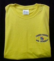 Chemo Makes Me Crabby Yellow Embroidery Crab Cancer Awareness S/S T Shirt 3X New image 2