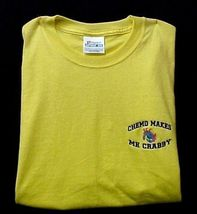 Chemo Makes Me Crabby Yellow Embroidery Crab Cancer Awareness S/S T Shirt 3X New image 4
