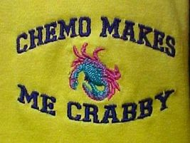 Chemo Makes Me Crabby Yellow Embroidery Crab Cancer Awareness S/S T Shirt 3X New image 5