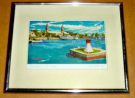 "SIGNED NICK M. SILK/ NM SILK ""DOCKYARD, BERMUDA"" PRINT - $191.03"