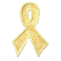 Childhood Cancer Pin Gold Bling Awareness Ribbon Sparkles Lapel Pins New image 2
