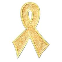 Childhood Cancer Pin Gold Bling Awareness Ribbon Sparkles Lapel Pins New image 4