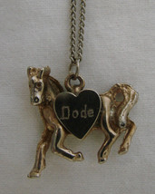 Costume Fashion Gold Silver Plated Pet Pony Dode Horse Pendant Necklace Vintage - $19.17