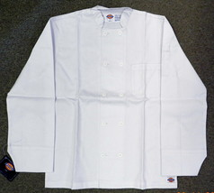 Dickies Chef Coat Jacket CW070305B Restaurant Button Front White Uniform... - $20.87