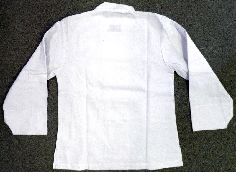 Dickies Chef Coat Jacket CW070309A Restaurant Button Front White Uniform S New