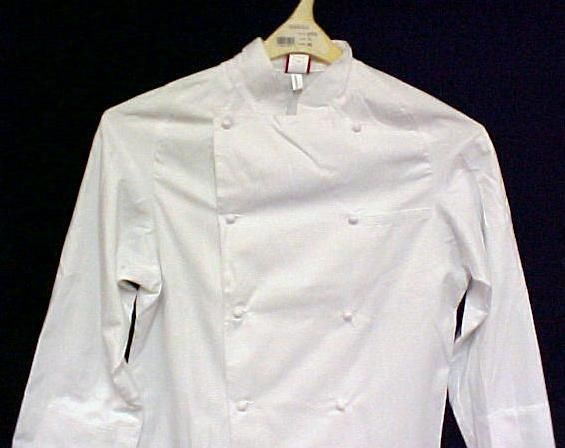 Primary image for Dickies White Grand Master Chef Coat Jacket 36 New CW070101 Egyptian Cotton
