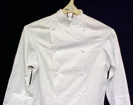 Dickies White Grand Master Chef Coat Jacket 36 New CW070101 Egyptian Cotton - $32.64