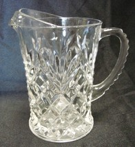 EAPC Pineapple Pitcher Early American Prescut Clear Glass Creamer Vintage - $19.57