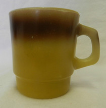 Fire King Stackable Mug D Handle Gold Brown Cup Anchor Hocking Collectible USA - $19.57