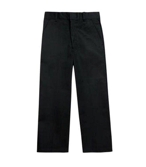 French Toast Black Pants School Uniform Boys Flat Front Double Knee 6 Reg New image 4