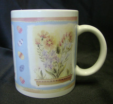 Hallmark Pastel Flower Floral Planter Box Heart Easter Egg Spring Coffee Cup Mug - $19.17