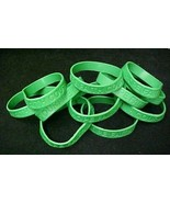 Green Awareness Bracelets 12 Piece Lot Silicone Jelly Wristband Cancer C... - $12.97