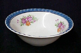 Hand Painted Iridescent Floral Rose Flower Bowl Yamatsu Japan Collector ... - $24.47