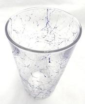Highball Bar Glass Blue Paint Splatter Drip Cra... - $24.72