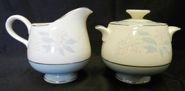 Homer Laughlin True Romance Eggshell Creamer Pitcher Sugar Dish Set Vintage - $24.45