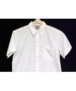 King Menu White Chef Shirt Snap Front Short Sleeve Polyester Restaurant ... - $14.67