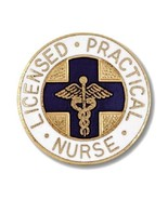 LPN Nurse Pin Blue Cross Caduceus Emblem Graduation Licensed Practical N... - $12.84