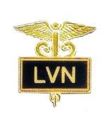 LVN Licensed Vocational Nurse Pin Medical Black Inlaid Caduceus Graduati... - $14.52