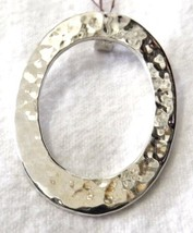 Ladies Sterling Silver .925 Hammered Open Oval ... - $59.37