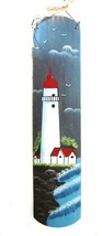 Lighthouse Wood Plaque Wall Hanging Country Folk Home Shore Beach Hand P... - $19.37