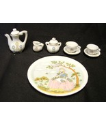 Little Miss Muffet Spider Nursery Rhyme 10 piece Porcelain China Tea Set... - $17.79