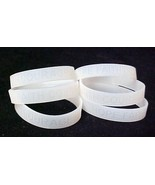 Lung Cancer Awareness Clear Translucent Silicone Bracelet 6 pc Lot Latex... - $13.55