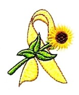 Liver Sarcoma Bladder Cancer Spina Bifida Yellow Ribbon Sunflower W T-Sh... - $21.53