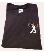 Lung Cancer Pearl Angel Ribbon Brown L/S T-Shirt S New - $25.19