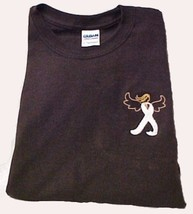 Lung Cancer Pearl Angel Ribbon Brown L/S T-Shirt XL New - $25.19