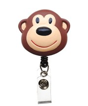 Medical Badge 3-D ID Tag Clip Holder Retractable Brown Monkey Prestige New - $12.71