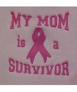 My Mom Survivor Ribbon Pink Hoodie Sweatshirt Girls S - $28.10