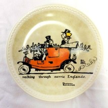 Newall Norman Rockwell On Tour Walking Merrie Englande Collector Plate L... - $29.37