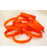 Orange Awareness Bracelets Lot of 12 Piece Silicone Wristband Cancer Cau... - $16.97